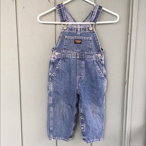 Vintage OshKosh Blue Jean Overalls 3T